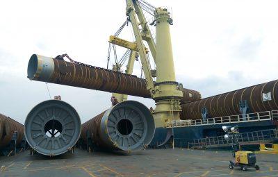 Prelude FLNG Pile Mobilisation and Transportation